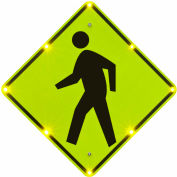 "Tapco® 2180-00254 BlinkerSign® Flashing LED Pedestrian Crossing Sign W11-2, 30""W, 110V"