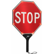 "Tapco® 2180-00301 STOP/STOP BlinkerPaddle® Flashing LED Paddle, 18""W x 24""H"