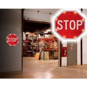 "Tapco® 2180-00390 BlinkerSign® Flashing LED STOP Indoor Sign, 24""W x 24""H, 110V"