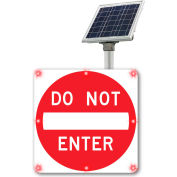 "Tapco® 2180-C00067 BlinkerSign® Flashing LED Do Not Enter Sign R5-1, 30""W, Red, Solar"
