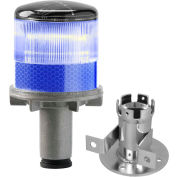 Tapco® 3337-00004 Solar Powered LED Strobe Lights, Blue Bulb