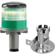 3337-00005 Solar Powered LED Strobe Lights, Green Bulb
