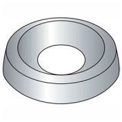 "#10 Countersunk Finishing Washer - .268/.236"" I.D. - Steel - Plain - Grade 2 - 100 Pk"