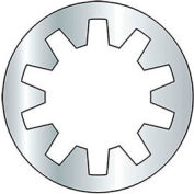 "1/4"" Internal Tooth Lock Washer - Grade 2 - Steel - Zinc - Pkg of 100"