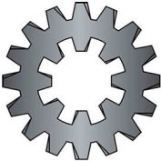 #8 Combination Internal/External Tooth Lock Washer - Steel - Zinc - Pkg of 100