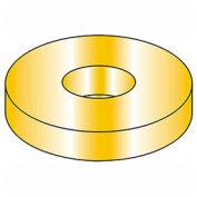 "5/16"" Flat Washer - USS - 3/8"" I.D. - .079/.093"" Thick - Steel - Yellow Zinc - Grade 8 - Pkg of 100"