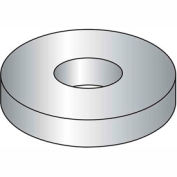 "#8 Flat Washer - SAE - 3/16"" I.D. - Steel - Zinc Plated - Grade 2 - Pkg of 100"