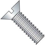 M4 x 0.7 x 35mm Machine Screw - Slotted Flat Head - Steel - Zinc - DIN 125B - Pkg of 100