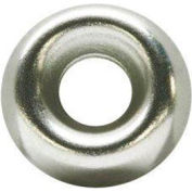 "#4 Countersunk Finishing Washer - .137/.122"" I.D. - .008/.015"" Thick - Brass - Plain - Pkg of 100"