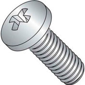 "10-32 x 1/2"" Machine Screw - Phillips Pan Head - Steel - Zinc Plated - Pkg of 100"