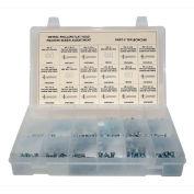 400 Piece Metric Machine Screw Assortment - M3 to M6 - Phillips Flat Head - Steel - Zinc