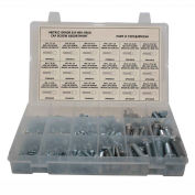 250 Piece Metric Hex Head Cap Screw Assortment - M4 to M12 - Grade 8.8 - Steel - Zinc