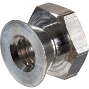 5/16-18 Tamper-Proof Security Breakaway Nut - Non-Removable - Aluminum - Made In USA - Pkg of 50