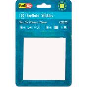 "Redi-Tag® Transparent Film Sticky Notes 23775, 3"" x 3"", Transparent, 50 Sheets, 1/Pack"