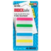 "Redi-Tag® Removable Tabs, 2"" x 11/16"", Assorted Colors, 48 Tabs/Pack"