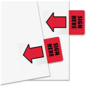 "Redi-Tag® ""Sign Here"" Page Flags, 1"" x 1-11/16"", Red, 50 Flags/Pack"