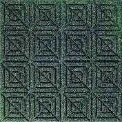 "Waterhog Classic Carpet Tile 2205614000, Geometric, 18""L X 18""W X 1/4""H, Medium Blue, 12-PK"