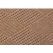 "WaterHog® Diamond Mat Fashion Border 3/8"" Thick 4' x 16' Medium Brown"