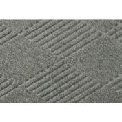 "WaterHog® Diamond Mat Fashion Border 3/8"" Thick 4' x 16' Medium Gray"