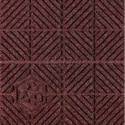 """Waterhog Eco Premier Carpet Tile 22177414000, Diagonal, 18""""L X 18""""W X 1/4""""H, Maroon, 12-PK"""