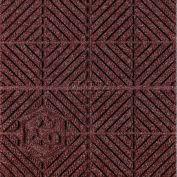 """Waterhog Eco Premier Carpet Tile 221774716000, Diagonal, 18""""L X 18""""W X 7/16""""H, Maroon, 10-PK"""