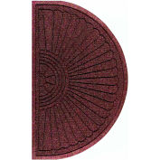 "WaterHog Eco Grand Elite 3/8"" Thick Half Oval Entrance Mat, Maroon 3' x 1'8"""
