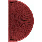 "WaterHog Eco Grand Elite 3/8"" Thick Half Oval Entrance Mat, Regal Red 6' x 3'3"""