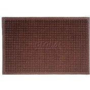 WaterHog™ Fashion Entrance Mat, Dark Brown 4' x 10'