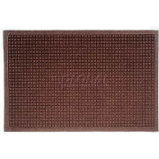 WaterHog™ Fashion Entrance Mat, Dark Brown 6' x 12'