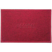 WaterHog™ Fashion Entrance Mat, Red/Black 4' x 16'