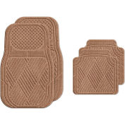 Waterhog Car Mats with Classic Pattern, Medium, Medium Brown, Full Set of 4 - 3901510002070