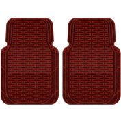 Waterhog Car Mats with Traction Pattern, Large, Red/Black, Front Set of 2 - 3906550001070