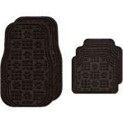 Waterhog Car Mats with PawPrint Pattern, Medium, Charcoal, Full Set of 4 - 3907540002070