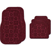 Waterhog Car Mats with PawPrint Pattern, Medium, Bordeaux, Full Set of 4 - 3907600002070