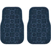 Waterhog Car Mats with PawPrint Pattern, Medium, Navy, Front Set of 2 - 3907610001070