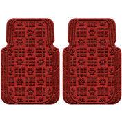 Waterhog Car Mats with PawPrint Pattern, Large, Red/Black, Front Set of 2 - 3908550001070