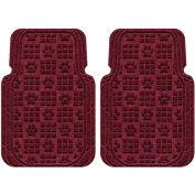 Waterhog Car Mats with PawPrint Pattern, Large, Bordeaux, Front Set of 2 - 3908600001070