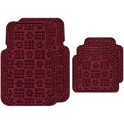 Waterhog Car Mats with PawPrint Pattern, Large, Bordeaux, Full Set of 4 - 3908600002070