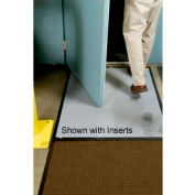 "Clean Stride Mat Rubber Frame w/Carpet Dark Brown 26-1/2""x63-1/2"""
