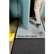 "Clean Stride Mat Rubber Frame w/Carpet Charcoal 26-1/2""x63-1/2"""