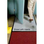 "Clean Stride Mat Rubber Frame w/Carpet Red/Black 26-1/2""x63-1/2"""