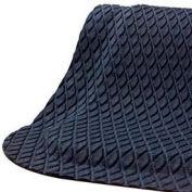 "Hog Heaven® Anti Fatigue Mat Fashion Border 5/8"" Thick 3' x 5' Black"