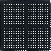 "Comfort Flow HD Modular Anti-Fatigue Tile 3/4"" Thick, Corner Black 37-3/8"" x 37-3/8"""