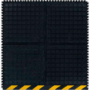 """Hog Heaven III™ Comfort Modular Side Tile 3/4"""" Thick 3' Black/Yellow Chevron Border"""