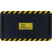 "Hog Heaven™ Sign Mat, Safety Shoes Required, Horizontal Black Border, 69""x46""x5/8"""