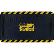 "Hog Heaven™ Sign Mat, Caution Hot, Vertical Black Border, 69""x46""x5/8"""