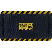 "Hog Heaven™ Sign Mat, Watch For Forklifts, Vertical Black Border, 58""x33""x7/8"""