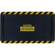 """Hog Heaven™ Sign Mat, Caution Shut Off Power, Vertical Black Border, 69""""x46""""x7/8"""""""