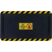 "Hog Heaven™ Sign Mat, No Cell Phone Use, Horizontal Yellow Border, 58""x33""x5/8"""