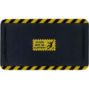 "Hog Heaven™ Sign Mat, Floor May Be Slippery, Horizontal Yellow Border, 69""x46""x5/8"""